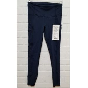 """Lululemon Fast and Free HR 25"""" Tight in Dark Blue"""